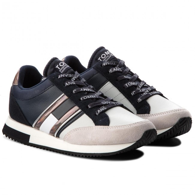 Sneakers TOMMY  JEANS     TOMMY                                                Casual Retro Sneaker EN0EN00317 Midnight/Ice 909 9986f3