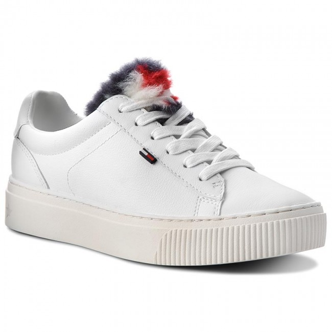 Sneakers TOMMY JEANS                                                      Funny Fur Star Sneak EN0EN00377 Weiß 100 dc8852