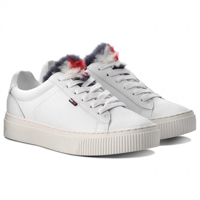 Sneakers TOMMY JEANS                                                    Funny Fur Star Sneak EN0EN00377 White 100