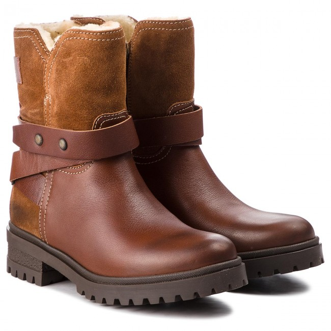 Stiefeletten TOMMY JEANS                                                      Warm Cleated Biker B EN0EN00388  Winter Cognac 906 08ed36