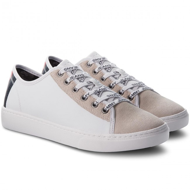 Sneakers TOMMY JEANS-Color Mix Mix Mix Light TurnschuheEM0EM00124 White 100 408518