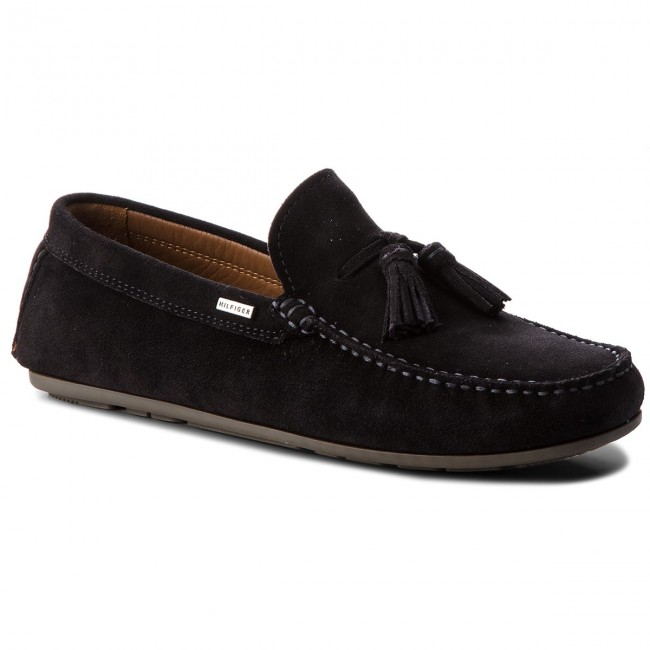 Mokassins TOMMY HILFIGER-Suede Tassle Loafer FM0FM01904 Midnight 403