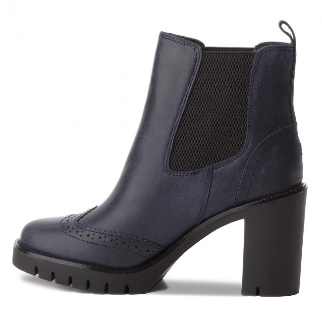 Stiefeletten TOMMY HILFIGER                                                      Casual Heeled Chelse FW0FW03058 Midnight 403 577415