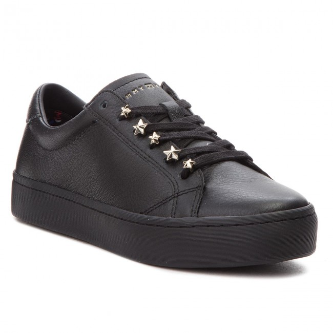 Sneakers TOMMY HILFIGER                                                      Jewel Dress Sneaker FW0FW03218  schwarz 990 34cedd