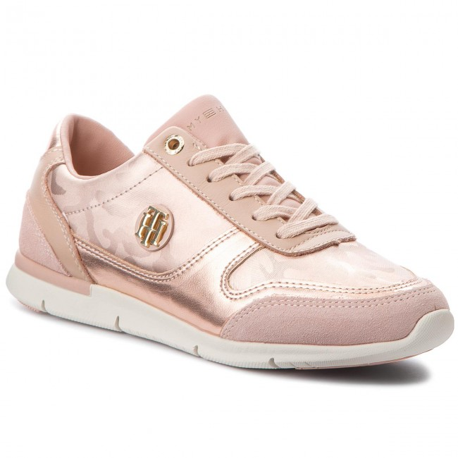 Sneakers TOMMY HILFIGER-Camo Metallic Light Sneaker Mahogany FW0FW03231 Mahogany Sneaker Rose 641 Werbe Schuhe 906f47