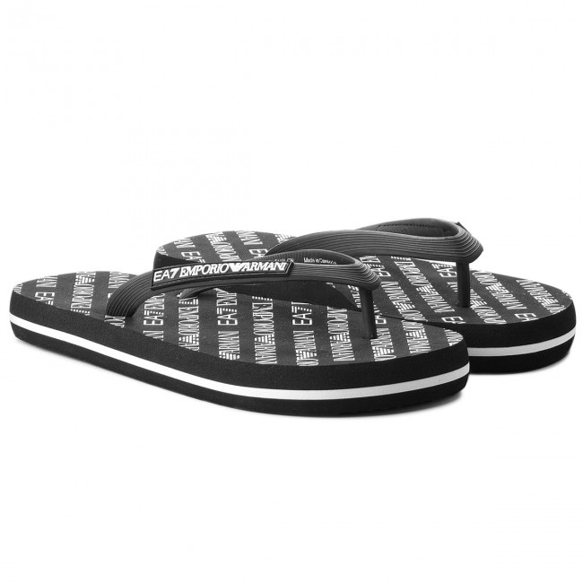 Zehentrenner EA7 EMPORIO ARMANI                                                      Flip Flop Sea World All Over U XCQ001 XCC07 00002 schwarz f06dbc
