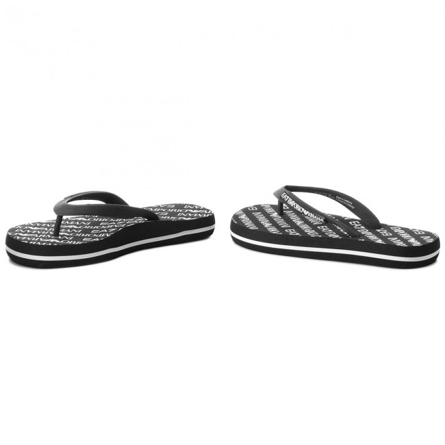 Zehentrenner EA7 Flop EMPORIO ARMANI  Flip Flop EA7 Sea World All Over U XCQ001 XCC07 00002 Black 65e192
