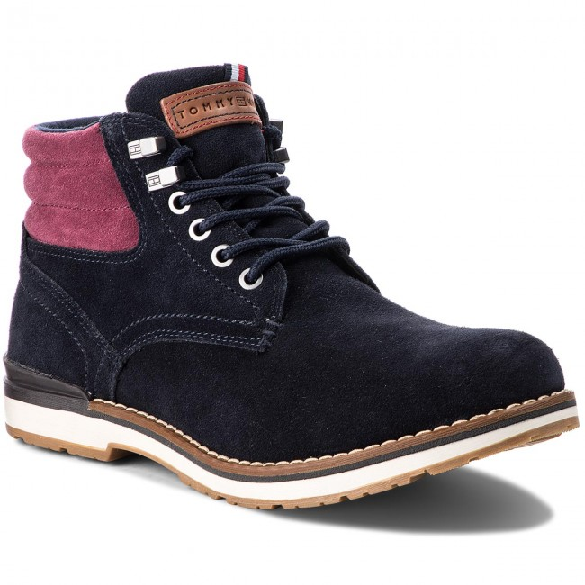 Trapperschuhe Boot TOMMY HILFIGER-Outdoor Suede Boot Trapperschuhe FM0FM01748  Midnight 403 152f82
