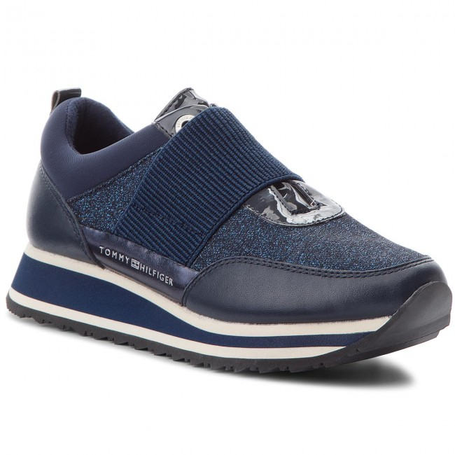 Sneakers TOMMY HILFIGER Elastic Retro Runner FW0FW03336 Midnight 403