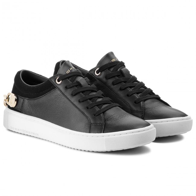 Sneakers TOMMY  HILFIGER     TOMMY                                                Chain Flag Sne FW0FW03265 schwarz 990 77caef