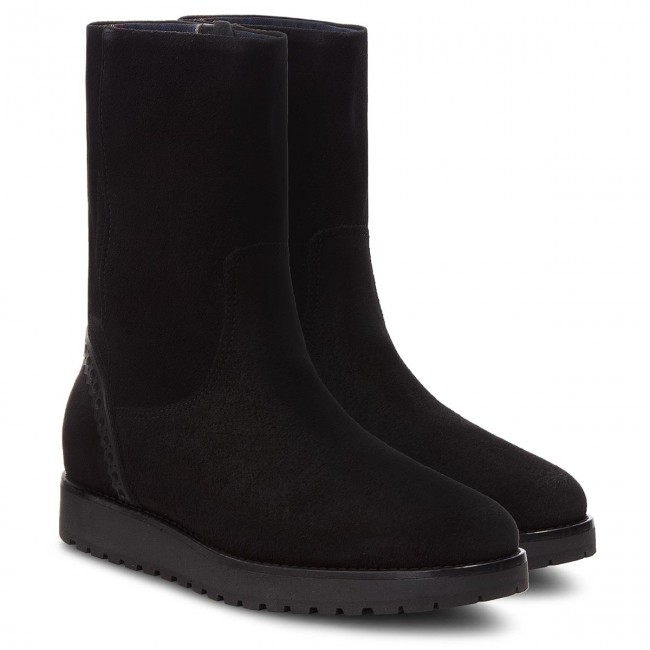 Stiefeletten TOMMY Boot HILFIGER  Essential Suede Boot TOMMY FW0FW03279 Black 990 ab74d2