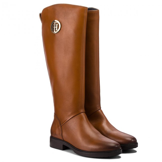 Schaftstiefel TOMMY HILFIGER                                                      Basic Th Riding Boot FW0FW03433 Cognac 606 2684cb