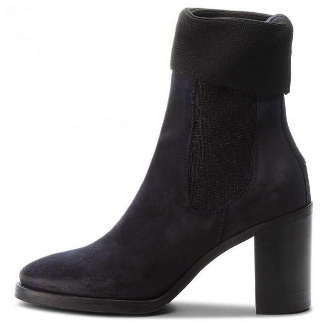 Stiefeletten TOMMY HILFIGER                                                      Knitted Sock Heeled FW0FW03442  Midnight 403 83bf8a