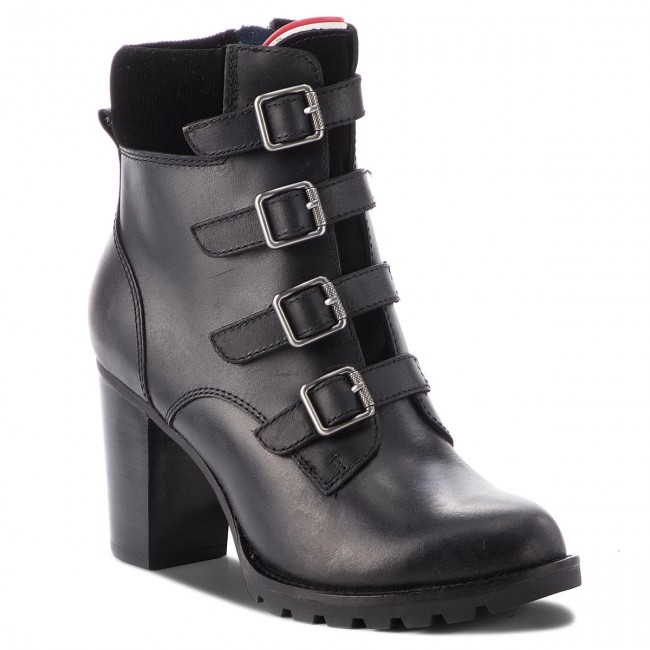 066ad13cf9f505 Stiefeletten TOMMY HILFIGER - Basic Hiking Heeled FW0FW03570 Black ...