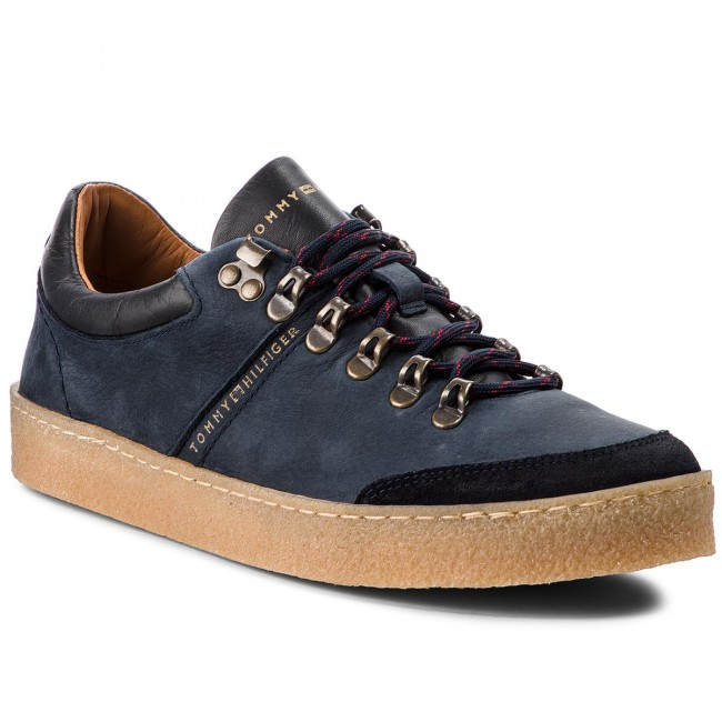 Sneakers TOMMY HILFIGER-Crepe Outsole Hiking FM0FM01676 Midnight 403