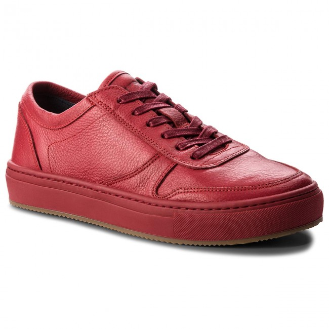 Sneakers TOMMY HILFIGER-Pebbled Leather Low FM0FM01684 Scooter Red 614