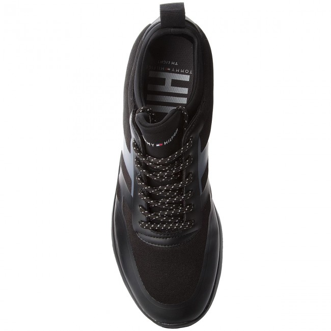 Sneakers TOMMY HILFIGER-Technical Material Sock Sneaker FM0FM01703  Black 990