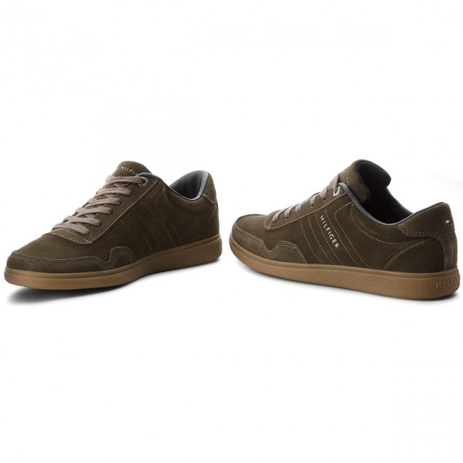 Sneakers TOMMY HILFIGER-Core Olive Suede Cupsole FM0FM01725 Olive HILFIGER-Core Night 010 bb7b5f