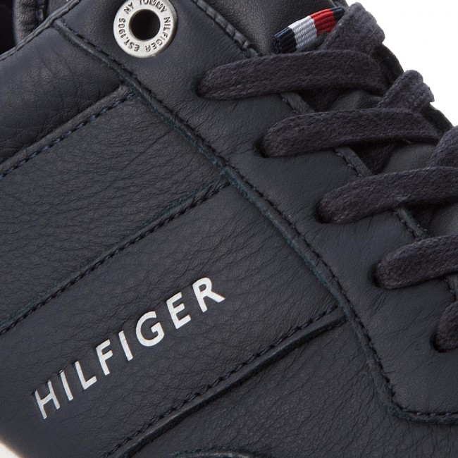 Sneakers TOMMY Midnight HILFIGER-Iconic Leder Runne FM0FM01900 Midnight TOMMY 403 1a57df