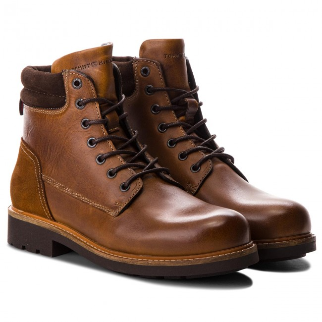 Stiefel TOMMY Winter HILFIGER-Active Leder Boot FM0FM01774 Winter TOMMY Cognac 906 2383cd