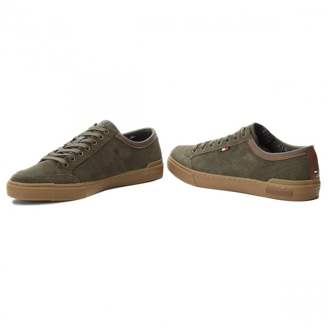 Turnschuhe TOMMY HILFIGER-Core FM0FM01898 Suede Lace Up S FM0FM01898 HILFIGER-Core Olive Night 010 cb33a8