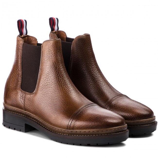 Stiefeletten TOMMY HILFIGER-Elevated Outdoor Cognac Che FM0FM01912 Cognac Outdoor 606 26f063