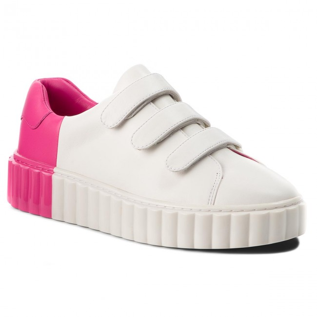 Sneakers TORY BURCH                                                      Scallop Triple Strap Sneaker 51461 Snow Weiß/Crazy Pink 102 6a718b