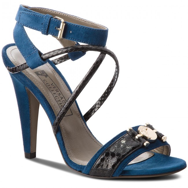 Sandalen VERSACE COLLECTION       COLLECTION                                               LSD5770 LRALA L492H Blau Navy/schwarz Oro 17849f