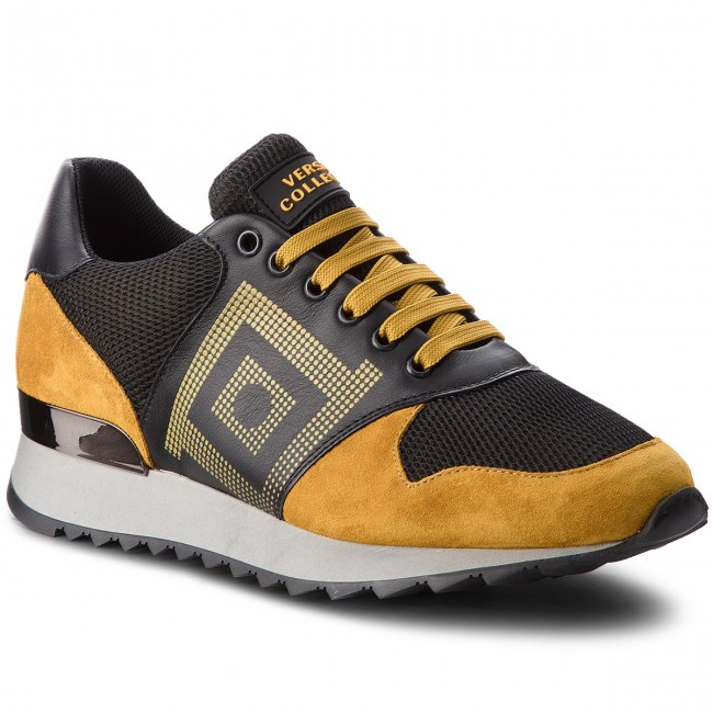 Sneakers VERSACE COLLECTION-V900728 VA21C VM00427 VA21C COLLECTION-V900728 Giallo Scuro/Nero/Kaki 038d41