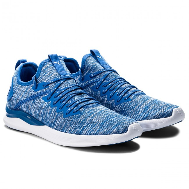 Schuhe PUMA-Ignite Flash Blau/Weiß EvoKnit 190508 13 Strong Blau/Weiß Flash e25b9e