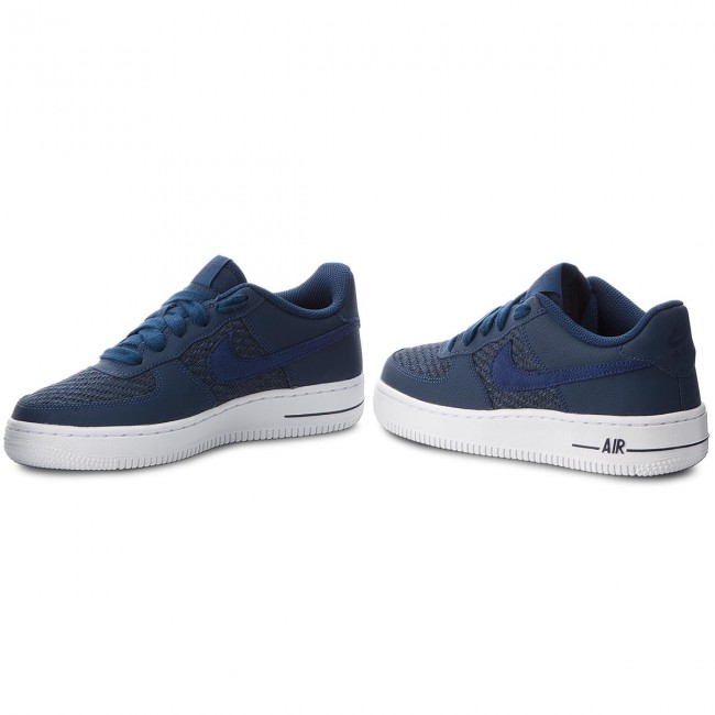 Schuhe NIKE-Air (GS) Force 1 Lv8 (GS) NIKE-Air 820438 406 Navy/Navy/Midnight Navy/White Werbe Schuhe 327797