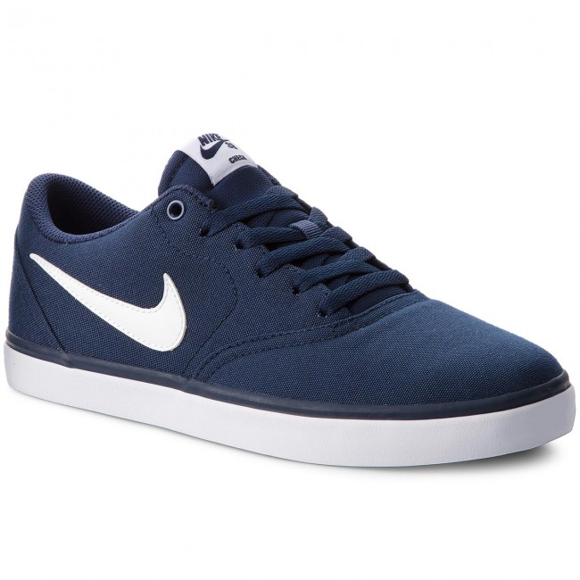 Schuhe NIKE-Sb Check Solar Cnvs 843896 400 Midnight Navy/White