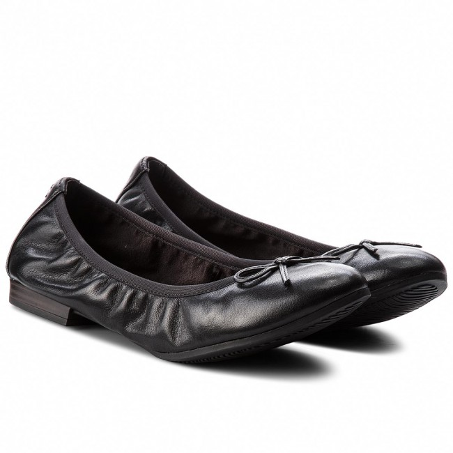 Ballerinas  TAMARIS  Ballerinas 1-22116-21 Black Leather 003 3a0b9e
