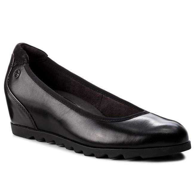 Halbschuhe TAMARIS 1-22421-21 Black Leather 003