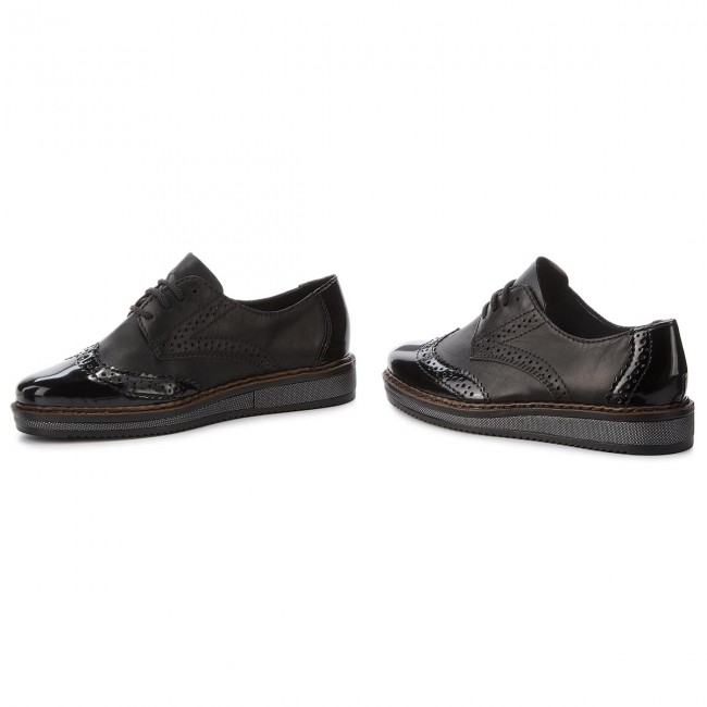 Oxfords RIEKER                                                    N0312-00 Schwarz