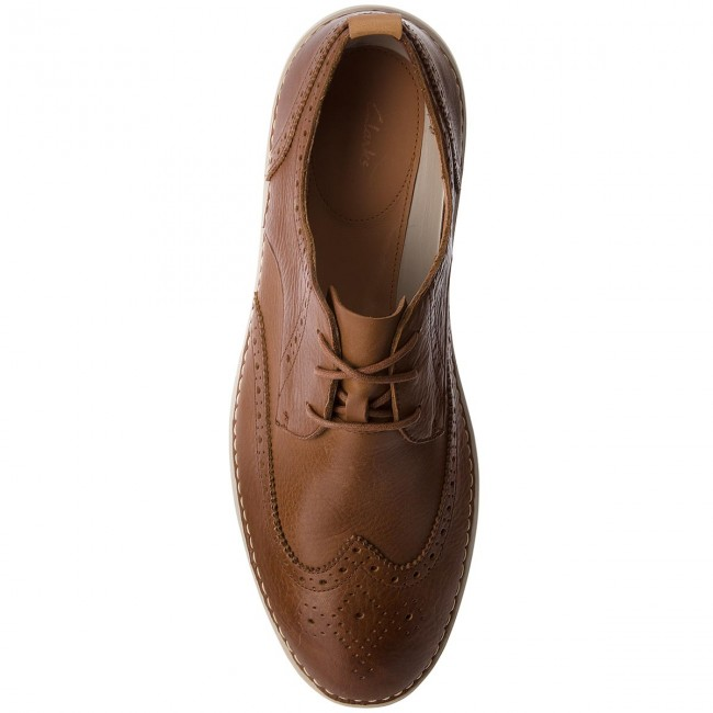 Halbschuhe CLARKS-Komuter Run 261327357 Tan Tumbled