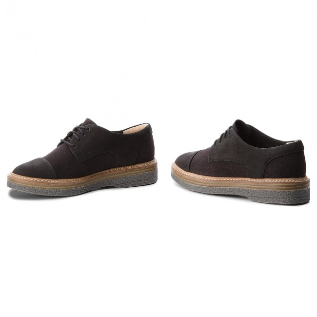 Oxfords CLARKS                                                      Zante Sienna 261337324 schwarz Canvas 155a78
