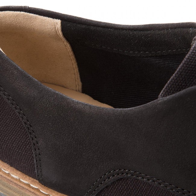 Oxfords CLARKS                                                    Zante Sienna 261337324 Black Canvas