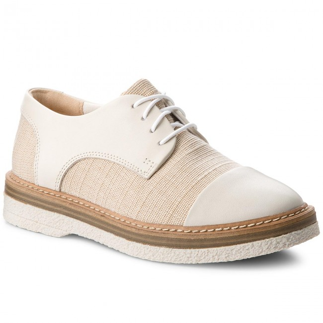 Oxfords CLARKS                                                    Zante Sienna 261326964  White Canvas