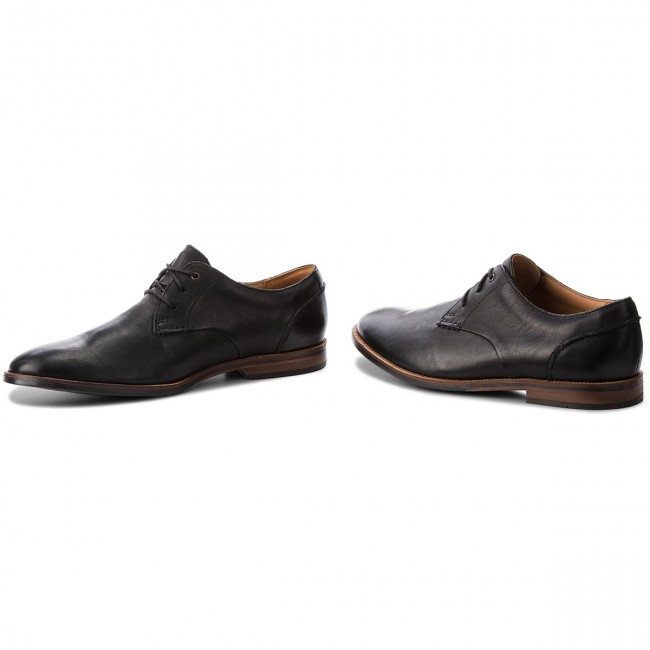 Halbschuhe CLARKS-Broyd Walk 261238607 Black Leather