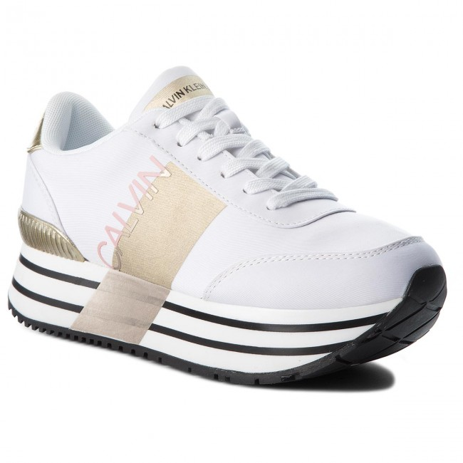 Sneakers CALVIN KLEIN JEANS Coretta RE9807 White/Gold