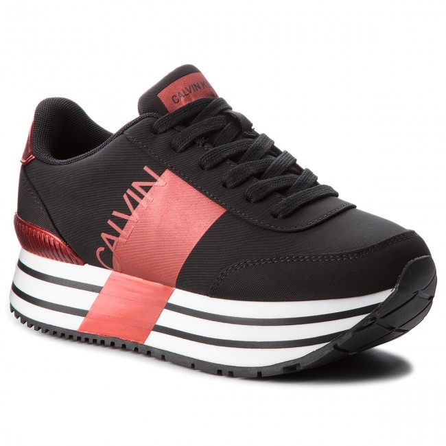 Sneakers CALVIN KLEIN JEANS                                                    Coretta RE9807 Black/Metal Red