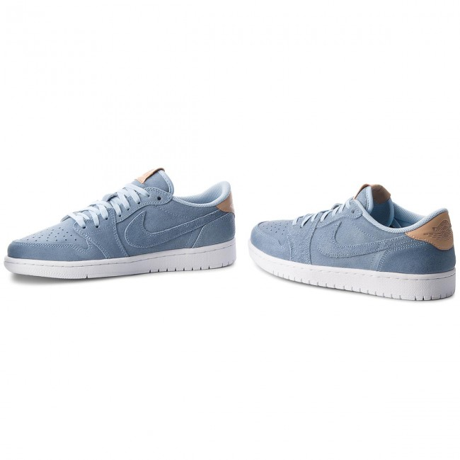 Schuhe NIKE-Air 402 Jordan 1 Retro Low Og Prem 905136 402 NIKE-Air Ice Blue/Vachetta Tan/White e9994a