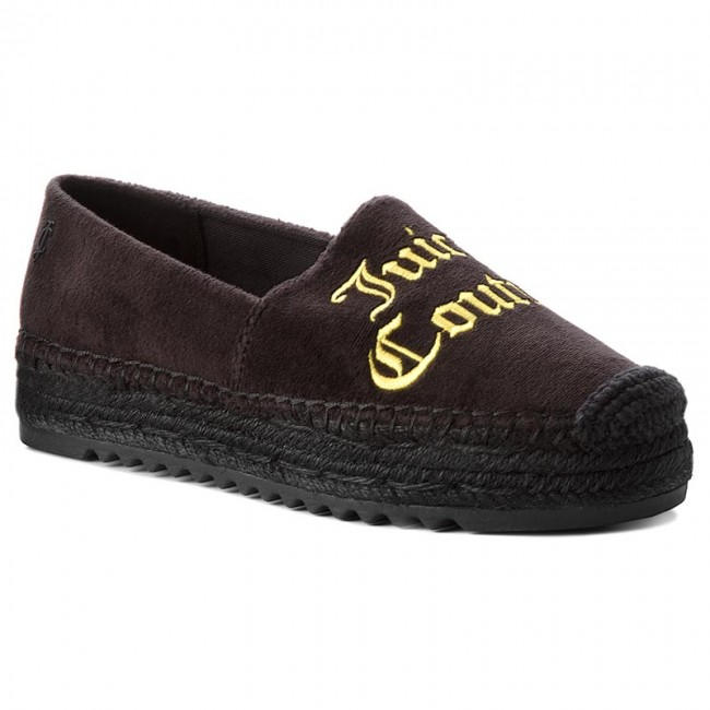 Espadrilles JUICY COUTURE BLACK LABEL                                                      Yolanda Velvet JB219 Pitch Black/Buttersc 510b94