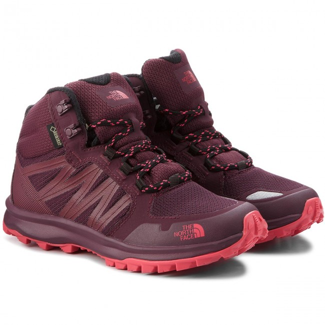 Trekkingschuhe THE NORTH FACE                                                      Litewave Fastpack Mid Gtx (Graphic) GORE-TEX T93FX35UM Fig/Atomic Pink bdf117