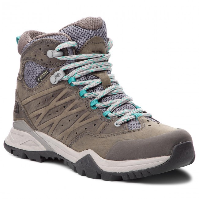 Trekkingschuhe THE NORTH FACE                                                      Hedgehog Hike II Mid Gtx GORE-TEX T939IA4FZ Q-Silver Grau/Porcelain Grün df6b21