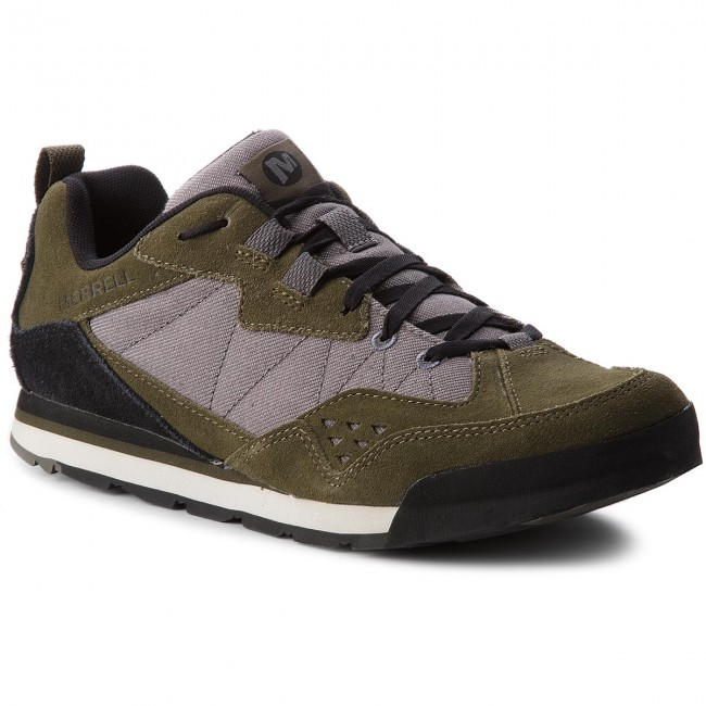 Halbschuhe MERRELL-Burnt Rock Tura Denim Low J93831  Dusty Olive/Grey