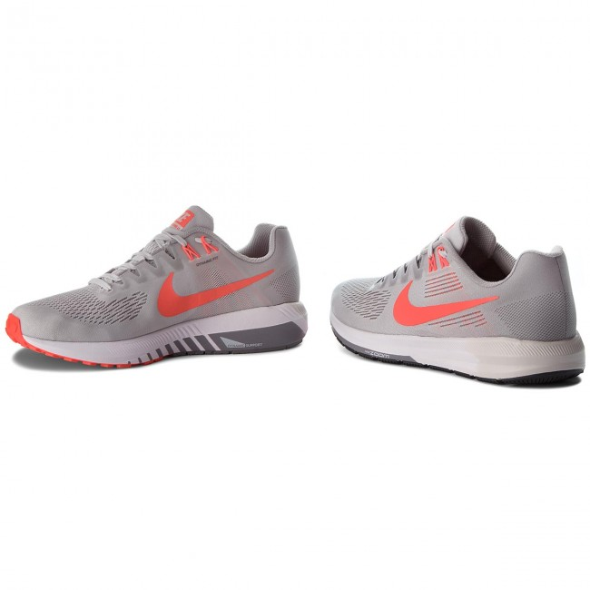 Schuhe NIKE-Air Zoom Structure 21 Crimson 904695 006 Vast Grau/Bright Crimson 21 33c259