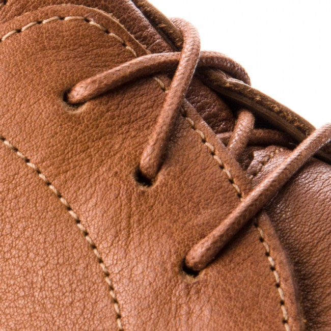 Halbschuhe CLARKS-Glide Lace 261354327 Tan Leather