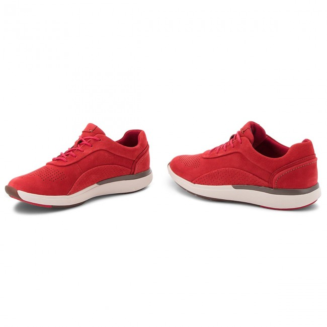 Sneakers CLARKS                                                      Un Cruise Lace 261356894 ROT Nubuck ff4398